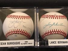 Sean Burroughs 2000 Olympic Gold Auto Signed Autograph Baseball
