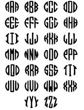 ~*~(2) ROUND INITIALS Vinyl Decal for Walls, Glass, Mirror YETI CUSTOM Available