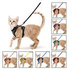 "Rabbitgoo Cat Pet Harness Escape proof Small Dog Vest Adjustable and 59"" Leash"