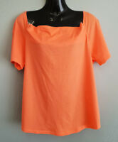 BNWT Womens Sz XL 16 MIX Brand Salmon Short Sleeve Cowl Neck Style Top