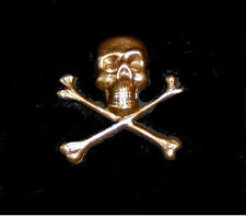 Medieval Masonic Knights Templar Memento Mori Crusades Gold War Skull Death Pin