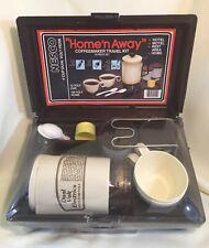 Nesco Home 'N Away Coffeemaker Travel Kit  12V or 120V Complete & Never Used!