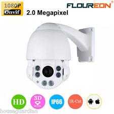 1080P HD Pan/Tilt Outdoor 10X Zoom PTZ Night Vision Dome CCTV IP Camera IR-CUT