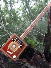 New Listing3 String Electric/Acoustic Cigar Box Guitar
