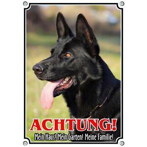 Dog Sign From Black German Shepherd - Exlusive Warning Sign Metal