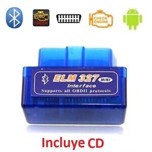 ELM327 Bluetooth Diagnosis mini Scaner coche ODBII ODB2 V2.1 multimarca Android