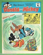 #CC5.  DISNEY DONALD DUCK & MICKEY MOUSE COMIC  2nd  September 1972