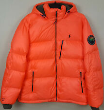 POLO RALPH LAUREN 750 DOWN PUFFER HOODED JACKET SKI ORANGE $368 NEW (SIZE 2XL)