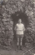 1920s Handsome young man in shirt & shorts fashion Russian antique photo gay int