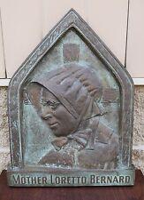 + Cast Bronze Wall Plaque of Mother Loretto Bernard + chalice co. (CU608)