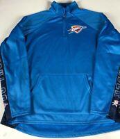 Oklahoma City Thunder 1/4 Zip Pullover NBA Womens Small Dri-Fit OKC Jacket NEW