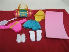 "Madeline 8"" Doll Outfit Pink Leotard Turquoise Shorts Socks Shoes Gym Bag Mat+"