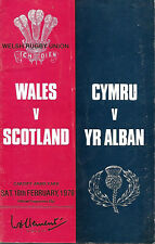 Programme RUGBY - WALES / SCOTLAND - Cardiff 1978 - Pays de Galles / Ecosse -