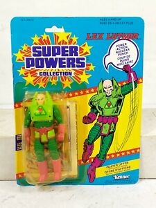 1984 Vintage Kenner Super Powers Lex Luthor Canadian Card Poster SEALED No 99670