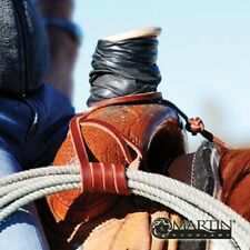 Lariat Rope Holder Strap Handmade Martin Saddlery with Button knot new Horse