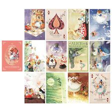 "Alice In Wonderland Postcard Book 3.9"" x 5.9"" 12 Postcards & 5 Envelope Illust"