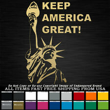 Keep America Great Statue of Liberty Trump says Decal sticker truck