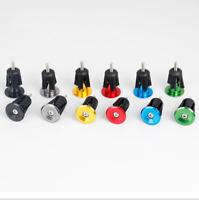 Bike Bicycle Aluminum Handlebar Grips Cap Plug Handle Bar Caps End Plugs 17-23mm