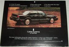 1994 Oldsmobile Cutlas Supreme 4 dr sedan car print (black)