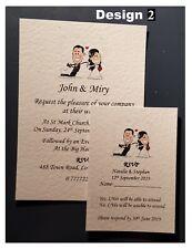 Personalized Wedding Stationery Day Evening Invitations RSVP Free Envelopes