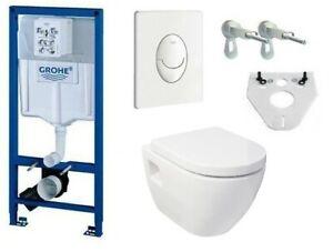 Grohe Rapid SL WC Set UD-7 Vorwandelement Design-Wand-WC Activ-Nano-Clean Sitz