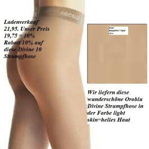 Oroblu Divine Strumpfhose 10 denier weich seidiger Touch Nanifaser skin M=40-42
