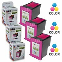 LD Remanufactured Replacement for HP 60XL / CC644WN High Yield Color Ink 3-Pack