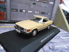 MERCEDES Benz 350sl 350 SL r107 1971 BEIGE GIALLO HARD TOP RAR SP solido 1:43
