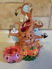 Partylite Haunted Tealight Tree Halloween Candle Holder Pumpkin Ghost Bats CUTE!