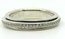 "AUTHENTIC MEDITATION SPINNER RING ""LUNAR"" 925 SILVER AND CZ STONES"