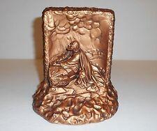 Vintage Creative Arts 1964 Bronze Standing Chalkware Jesus Gethsemane By Victor