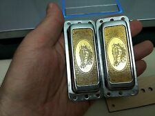 Rickenbacker style pickup cover (chrome) - gold foil. Price for one piece.