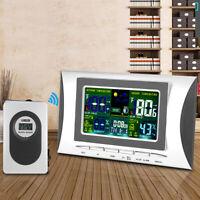 LCD Stazione Meteo Wireless Meteorologica Sensore Interno Umidità Termometro