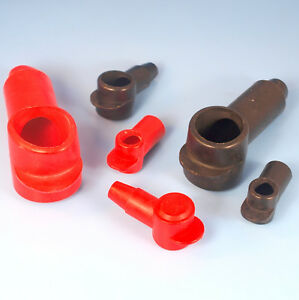Quality Battery Clamp Terminal Stud Covers Positive Negative Red Black Insulated