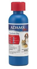 ADAMS PLUS PYRETHRIN  FLEA & TICK DIP 4 OZ DOGS CATS FREE SHIP TO THE USA