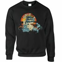 Traditional Art Jumper Painted Chinese Sunset Graphic Oriental Style
