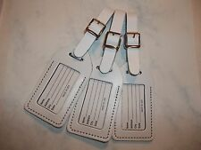 30 WHITE Genuine leather, NO QUOTE wedding, luggage tags $1.60 each.