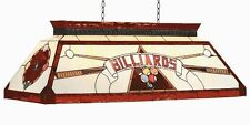 Pool Billiard Table Light Stained Glass CF Billiards Red w/ FREE Shipping