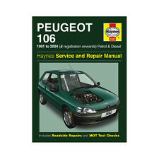 Peugeot 106 1.0 1.1 1.3 1.4 1.6 Pet 1.4 1.5 Dsl 91-04 (J to 53 Reg) Haynes Manua