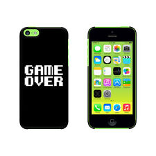 Game Over - Gamer Pixel Font Geek Protective Case for Apple iPhone 5C - Black