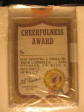 1968 Topps Kooky Awards Shield PROOF Card Cheerfullness