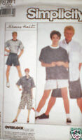 Vintage Simplicity Pattern Pants Shorts Shirt Top M SEW