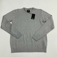 NWT Xray Sweater Mens XL Gray Long Sleeve Crew Neck Slim Fit Tight Knit Pullover