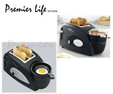 Tefal Toast N' Egg TT550015 2 Slices Toaster - Black-UK Delivery Only