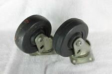 """Wheels, 4""""X1-1/4"""", Swivel, set of 2"""