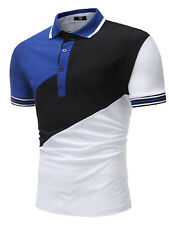 Hot Sale Colorblock Patchwork Casual Polo Shirt - White
