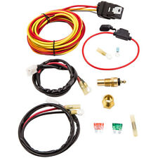 Electric Cooling Fan Wiring Harness Thermostat 40A Relay Kit 185/165 Degree