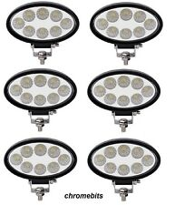 6X 12V 24V LED 24W WORK LAMP FLOOD OVAL LIGHT IVECO DAF MAN SCANIA VOLVO