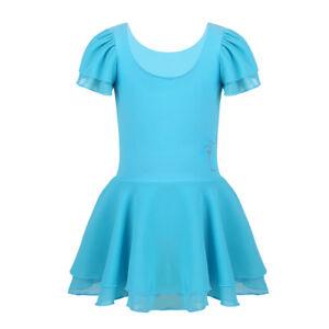 Girls Kids Ballet Dress Gymnastics Leotard Ballerina Dancewear Unitards Costume