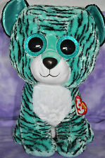 """TY  2015 Justice Exclusive Tess the Tiger  Beanie Boo Jumbo 17"""" ~NWNMT  VHTF"""